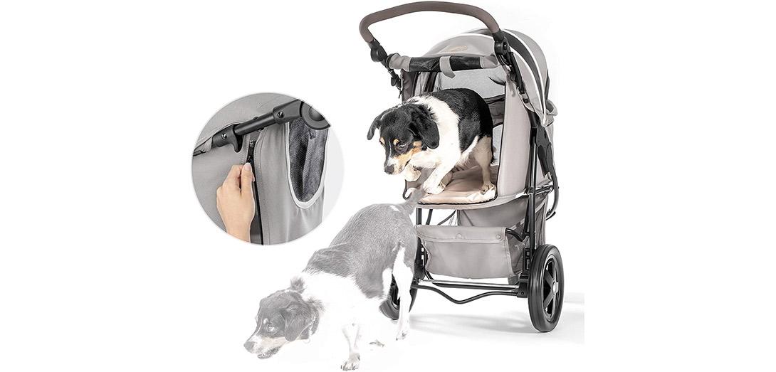 Hundebuggy grau bis 20kg