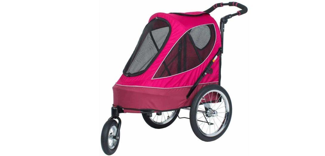 rosa Hundebuggy Luftreifen 3 Räder
