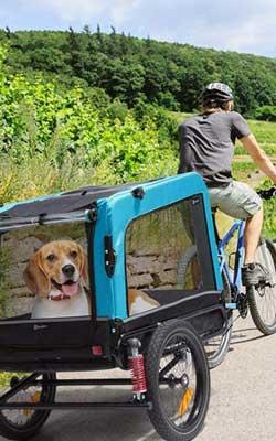 Klarfit Hundewagen als Fahrradanhänger