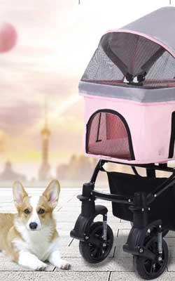 Hundewagen rosa
